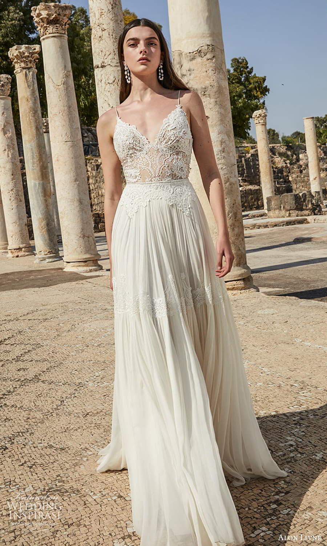alon livne 2021 bridal sleeveless strap sweetheart neckline embellished bodice a line ball gown wedding dress (13) mv