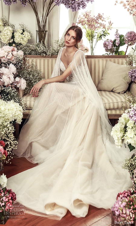dany tabet 2021 belle fleur bridal sleeveless straps plunging sweetheart neckline embellished bodice a line ball gown wedding dress chapel train (10) fv