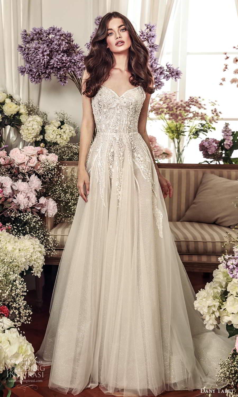 dany tabet 2021 belle fleur bridal sleeveless straps sweetheart neckline heavily embellished a line ball gown wedding dress chapel train (17) mv