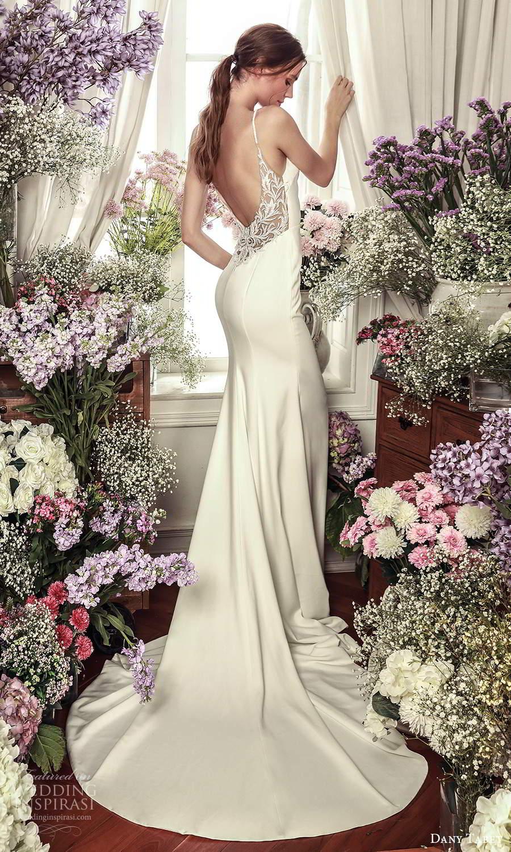 dany tabet 2021 belle fleur bridal sleeveless straps v neckline clean minimalist sheath wedding dress chapel train low back (6) bv