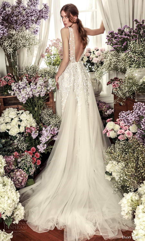 dany tabet 2021 belle fleur bridal sleeveless thickstraps plunging v neckline heavily embellished bodice a line ball gown wedding dress chapel v back (5) bv