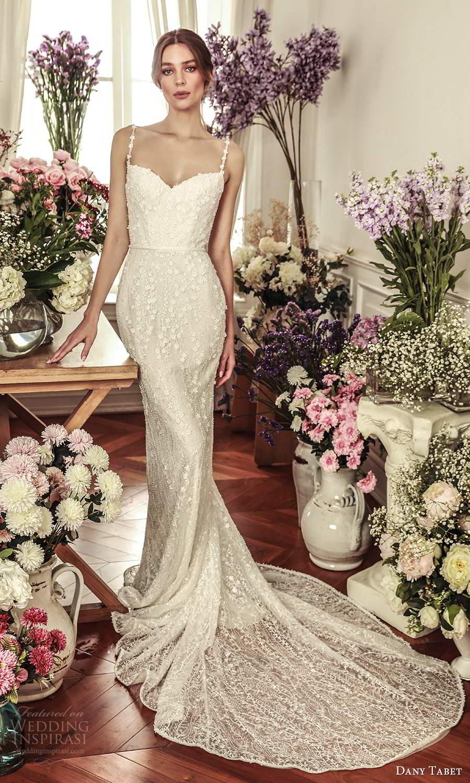 dany tabet 2021 belle fleur bridal sleevless straps sweetheart neckline fully embellished sheath wedding dress chapel train (3) mv
