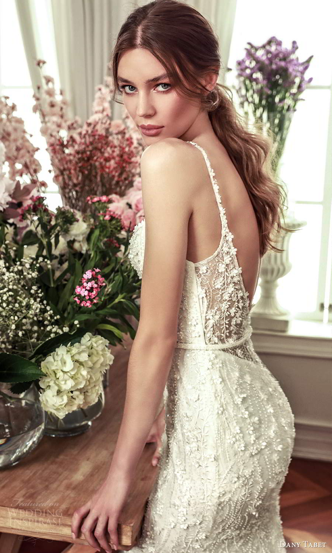 dany tabet 2021 belle fleur bridal sleevless straps sweetheart neckline fully embellished sheath wedding dress chapel train low back (3) zbv