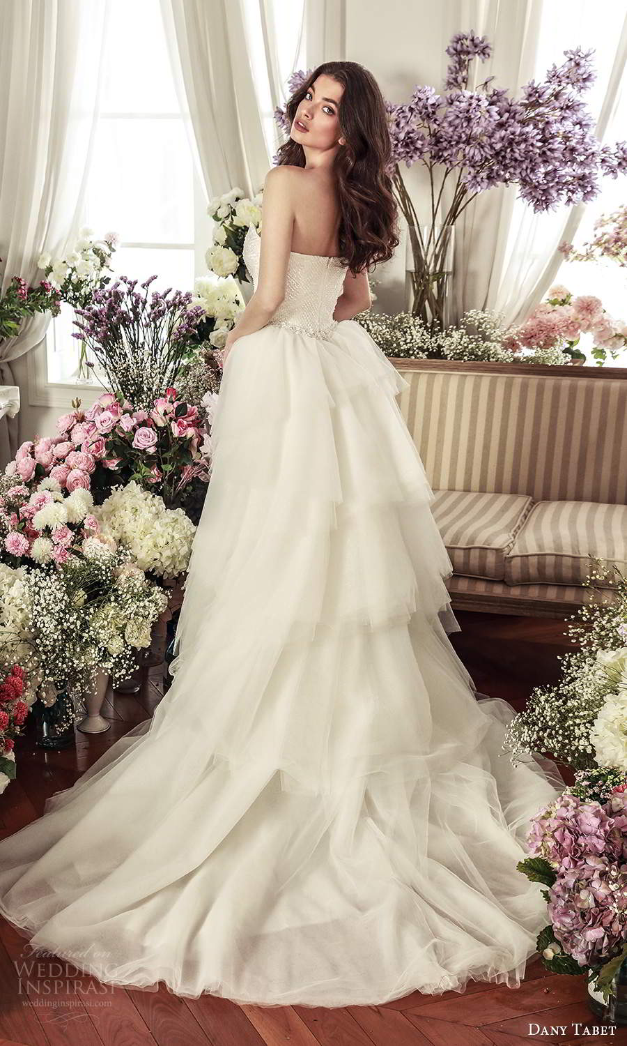 dany tabet 2021 belle fleur bridal strapless plunging sweetheart neckline fully embellished fit flare mermaid wedding dress chapel train a line ball gown overskirt (4) bv
