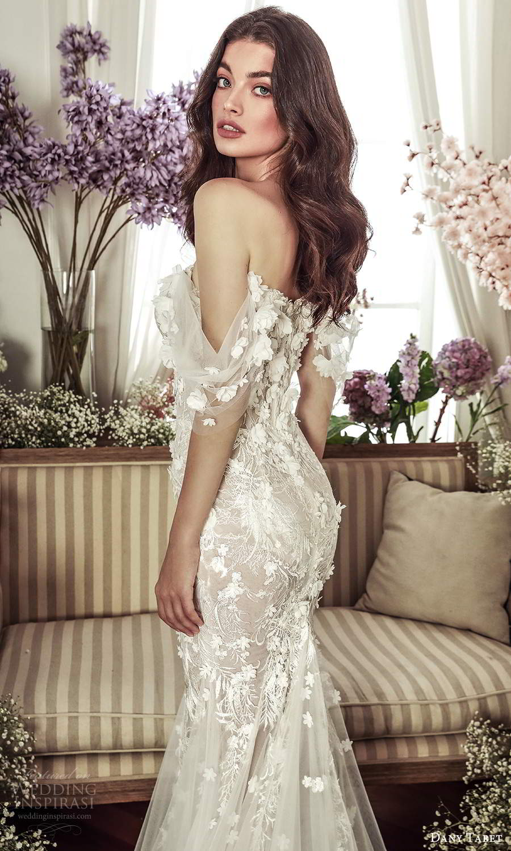 dany tabet 2021 belle fleur bridal strapless semi sweetheart neckline heavily embellished bodice fitflare mermaid wedding dress chapel train (11) zbv