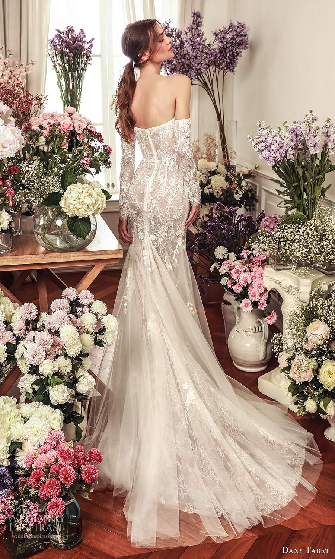 dany tabet 2021 belle fleur bridal strapless sweetheart neckline fully embellished fit flare memaid wedding dress chapel train (1) bv