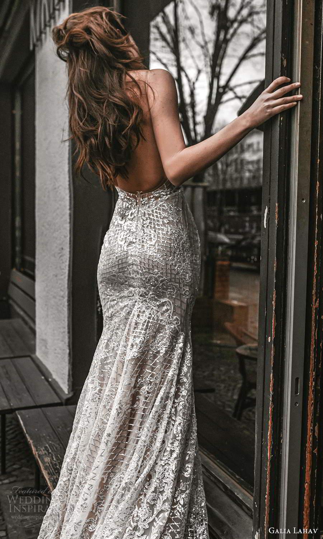 galia lahav spring 2022 gala bridal sleeveless straps plunging v neckline fully embellished fit flare mermaid sheath wedding dress chapel train low back (12) bv