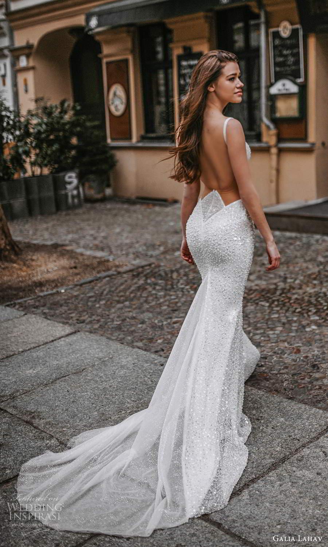 galia lahav spring 2022 gala bridal sleeveless straps square neckline fully embellished sheath wedding dress sweep train low back (8) bv