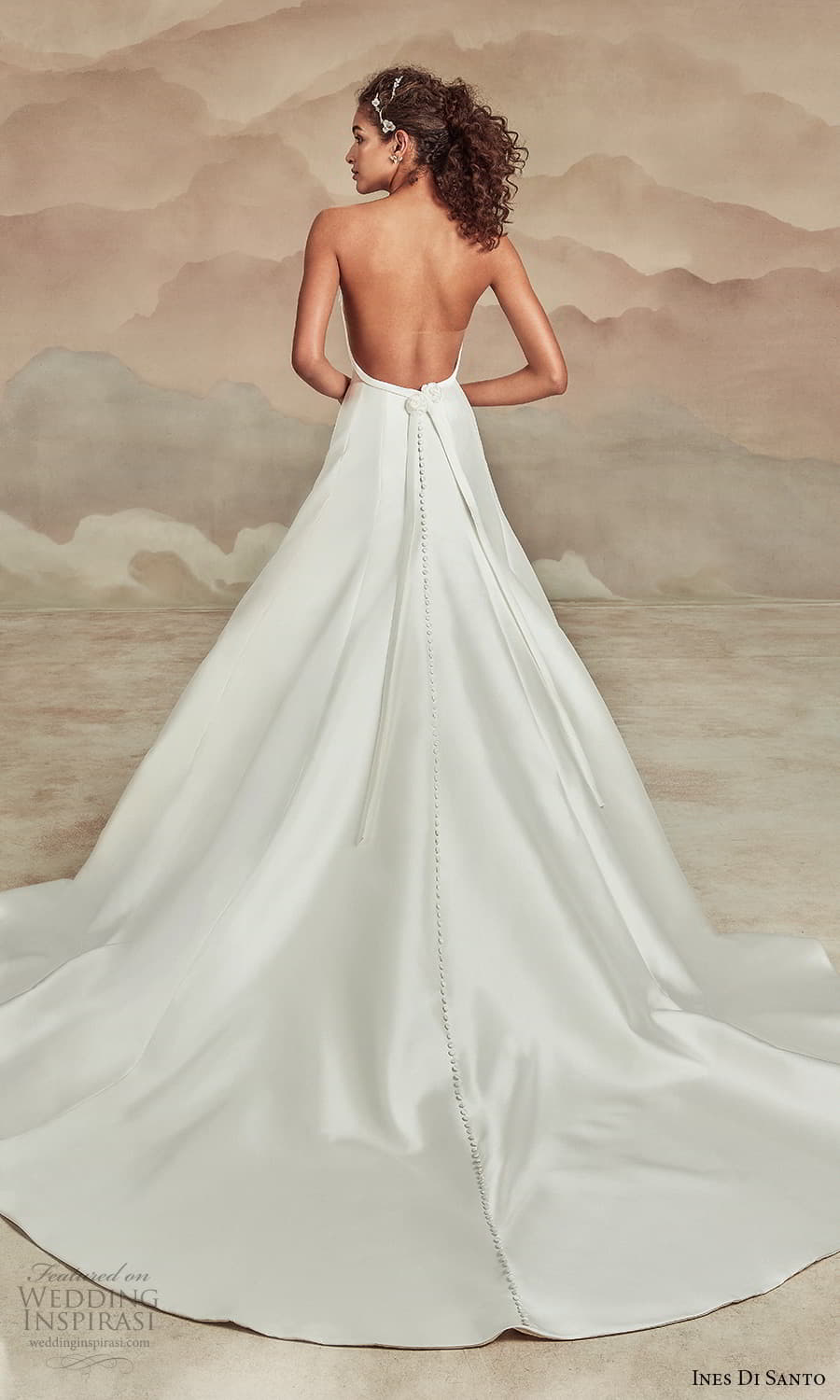 ines di santo spring 2022 bridal strapless embellished straight across neckline clean minimalist modified a line wedding dress chapel train (18) bv
