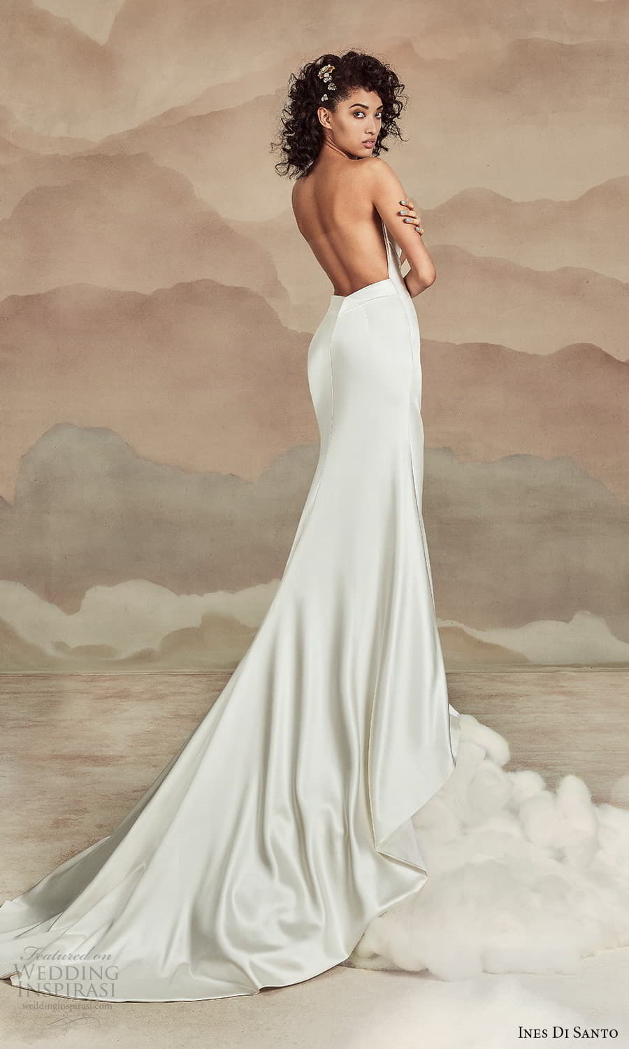 ines di santo spring 2022 bridal strapless straight across neckline clean minimalist sheath wedding dress (8) bv