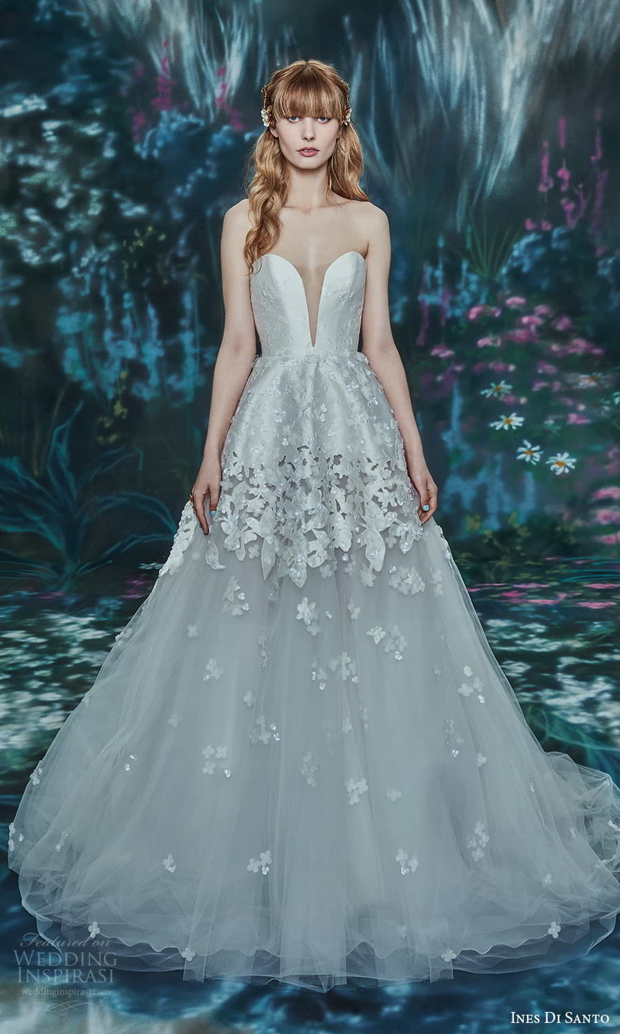 ines di santo spring 2022 bridal strapless sweetheart neckline fully embellished a line ball gown wedding dress chapel train (7) mv