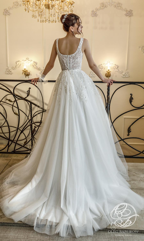 oleg baburow 2021 life miracle bridal sleeveless thick strap sweetheartneckline embellished bodice a line ball gown wedding dress chapel train (cristal) bv