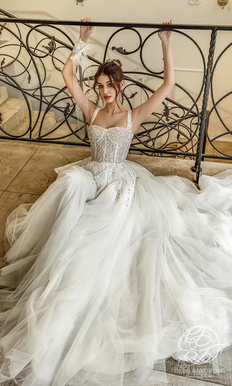 oleg baburow 2021 life miracle bridal sleeveless thick strap sweetheartneckline embellished bodice a line ball gown wedding dress chapel train (cristal) mv
