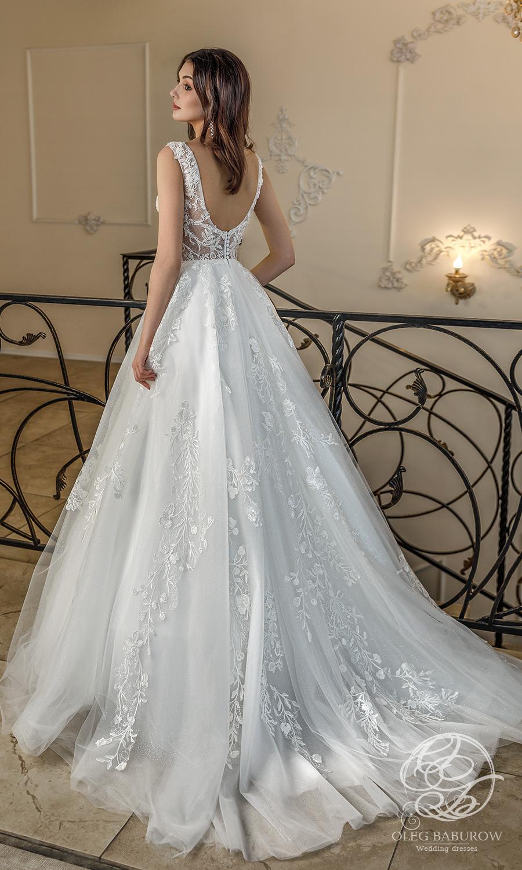 oleg baburow 2021 life miracle bridal sleeveless thick straps sweetheart neckline fully embellished lace a line ball gown wedding dress chapel train (fabiana) bv