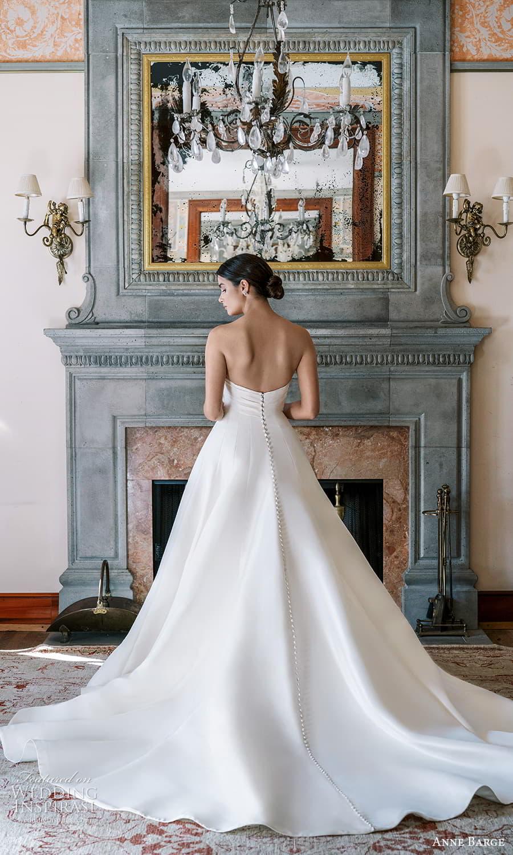 anne barge spring 2022 bridal strapless sweetheart neckline clean minimalist a line wedding dress chapel train (6) bv