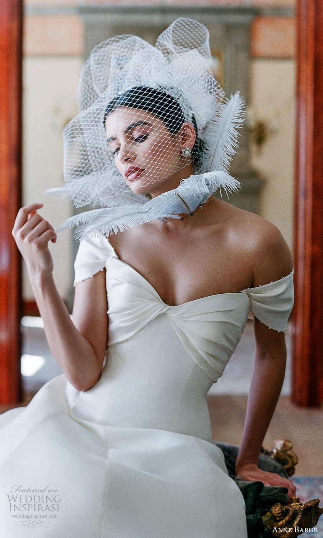 anne barge spring 2022 bridal strapless sweetheart neckline clean minimalist a line wedding dress chapel train (6) zv
