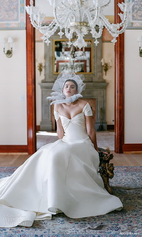 anne barge spring 2022 bridal strapless sweetheart neckline clean minimalist a line wedding dress chapel train shrug (6) fv