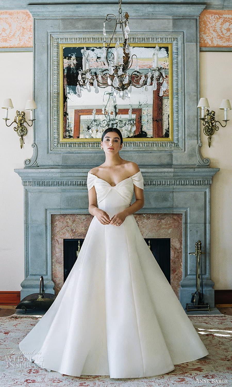 anne barge spring 2022 bridal strapless sweetheart neckline clean minimalist a line wedding dress chapel train shrug (6) mv