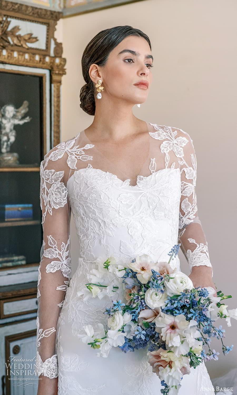 anne barge spring 2022 bridal strapless sweetheart neckline embellished a line wedding dress chapel train sheer long sleeve top (7) zv
