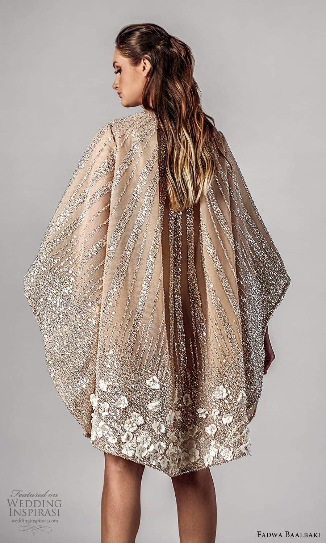 fadwa baalbaki spring 2021 bridal long kaftan sleeve jewel neckline fully embellished short wedding dress (3) zbv