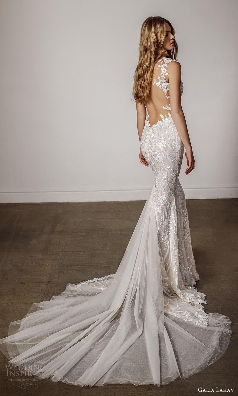 galia lahav spring 2022 bridal cap sleeves sweetheart neckline fully embellished sheath wedding dress chapel train (6) bv