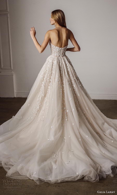 galia lahav spring 2022 bridal strapless sweetheart neckline embellished bodice a line ball gown wedding dress chapel train (2) bv