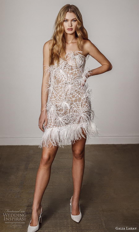 galia lahav spring 2022 bridal strapless sweetheart neckline embellished short wedding dress (7) mv