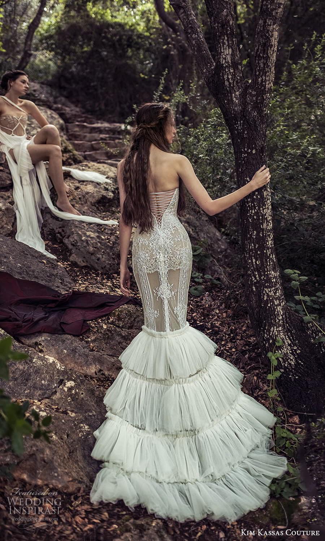 kim kassas spring 2022 bridal strapless straight across fully embellished mermaid wedding dress ruffle skirt (8) bv