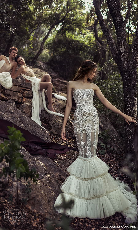 kim kassas spring 2022 bridal strapless straight across fully embellished mermaid wedding dress ruffle skirt (8) mv
