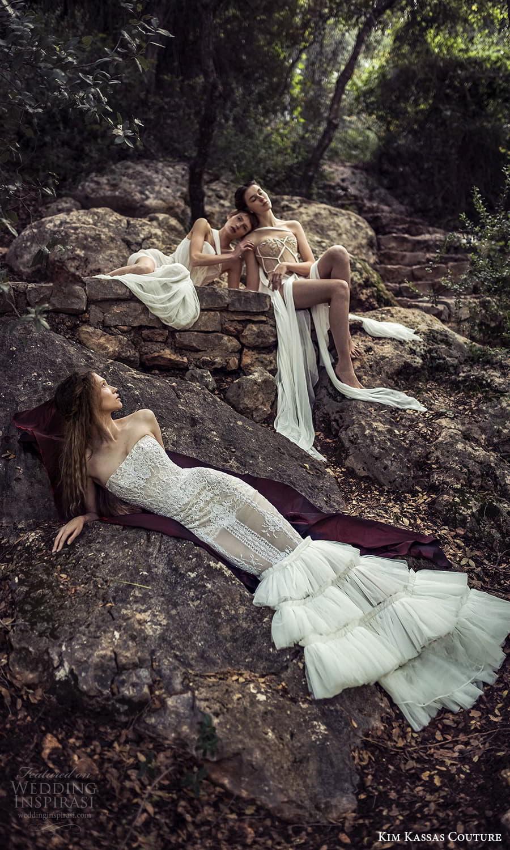 kim kassas spring 2022 bridal strapless straight across fully embellished mermaid wedding dress ruffle skirt (8) sv