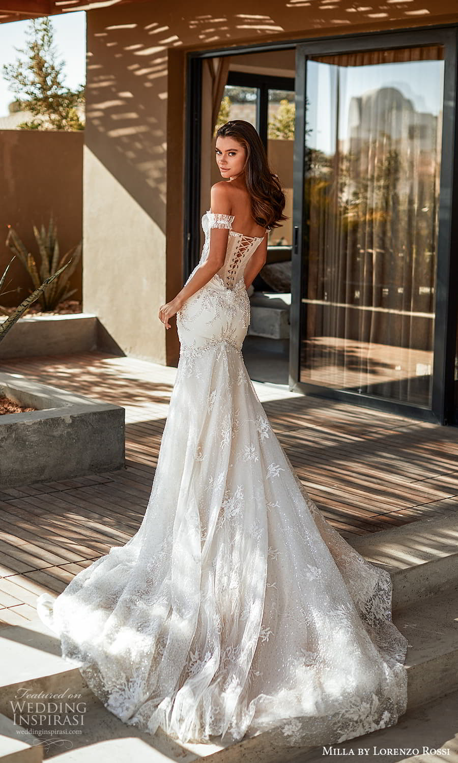 milla lorenzo rossi 2022 bridal detached straps strapless sweetheart neckline fully embellished fit flare mermaid wedding dress chapel train corset lace back (4) bv