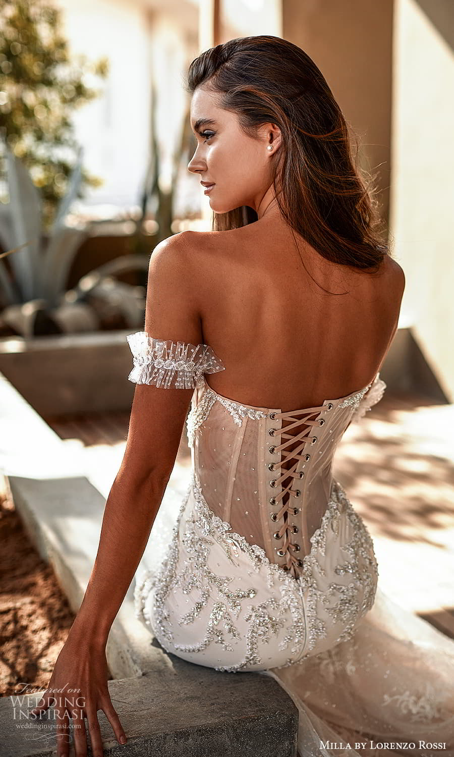 milla lorenzo rossi 2022 bridal detached straps strapless sweetheart neckline fully embellished fit flare mermaid wedding dress chapel train corset lace back (4) zbv
