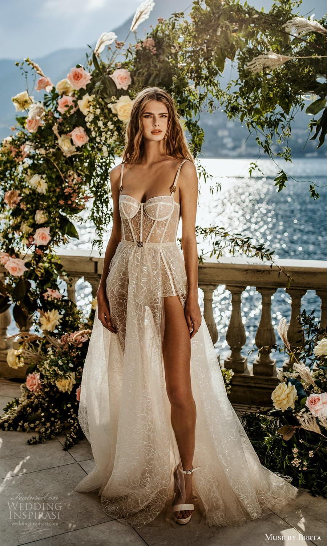 muse by berta spring 2022 bridal sleeveless straps semi sweetheart neckline embellished a line ball gown wedding dress chapel train (9) mv
