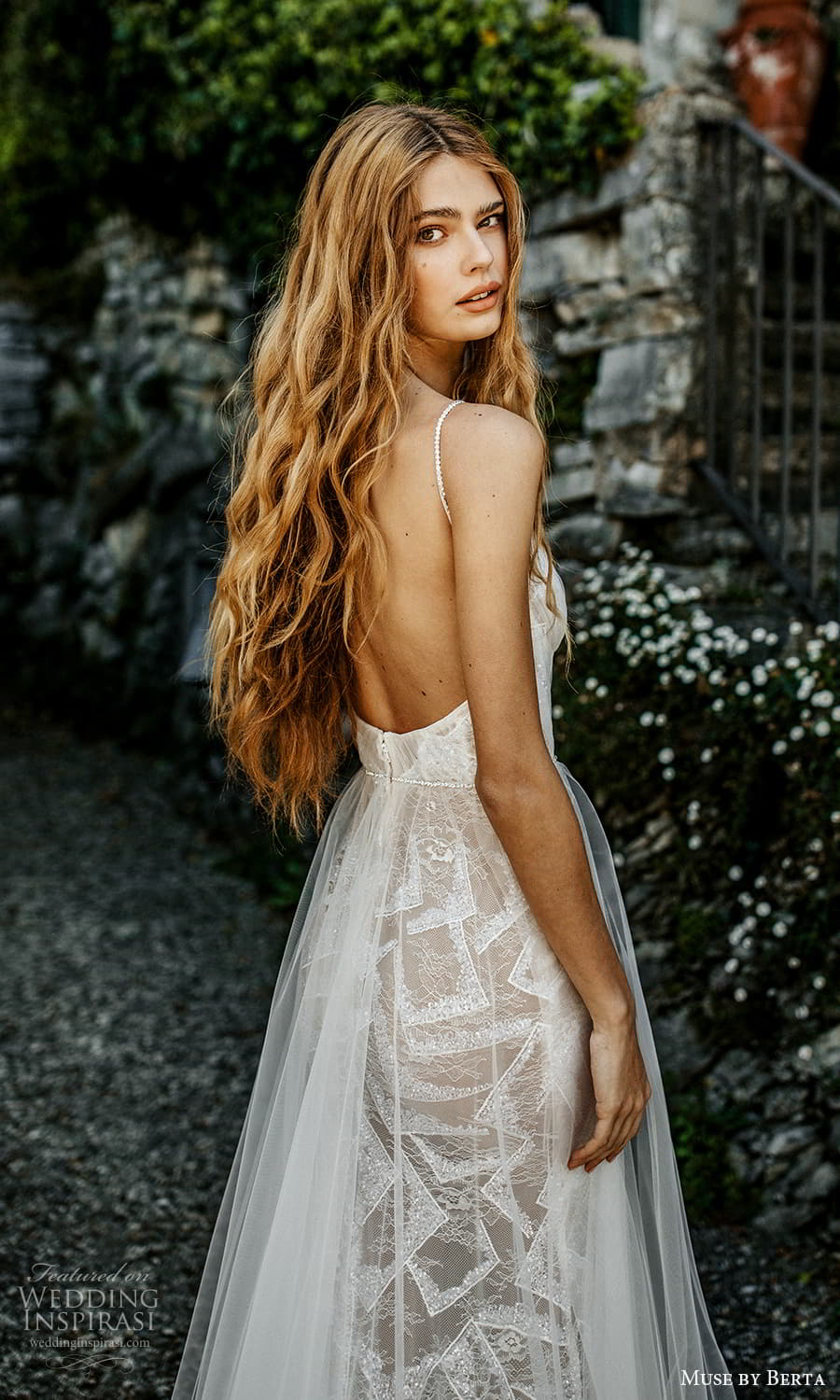 muse by berta spring 2022 bridal sleeveless straps v neckline ruched bodice a line ball gown wedding dress chapel train (12) zbv