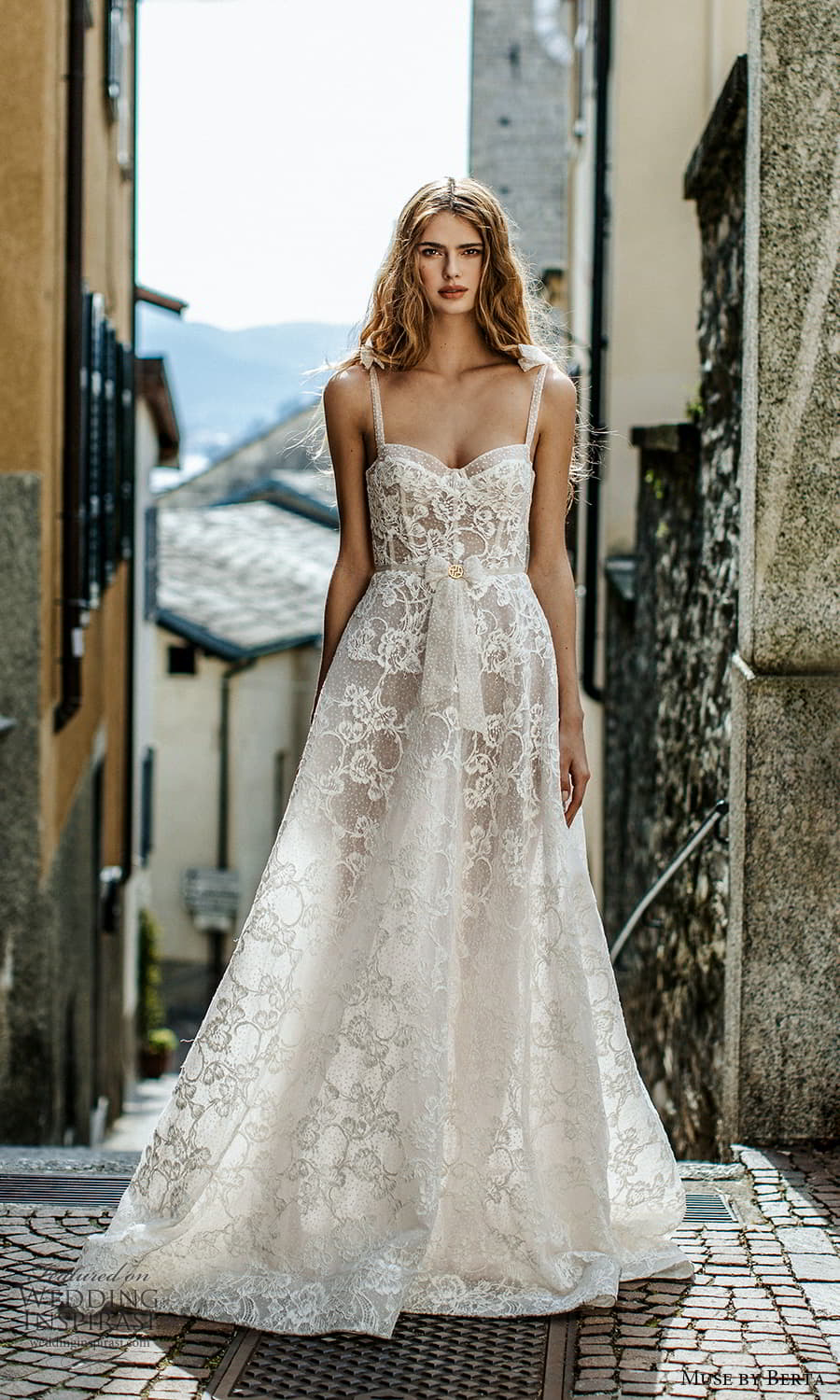 muse by berta spring 2022 bridal sleevelss straps semi sweetheart neckline fully embellished lace a line ball gown wedding dress chapel train (8) mv