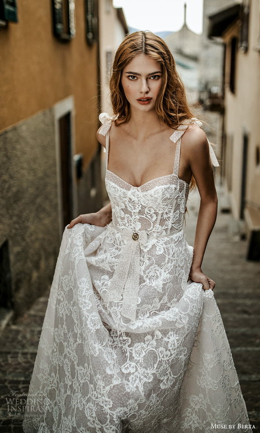 muse by berta spring 2022 bridal sleevelss straps semi sweetheart neckline fully embellished lace a line ball gown wedding dress chapel train (8) zv