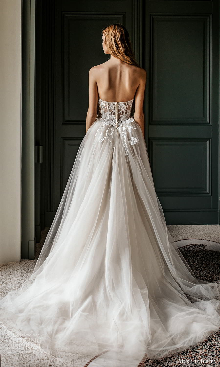 muse by berta spring 2022 bridal strapless sweetheart neckline embellished bodice a line ball gown wedding dress chapel train (14) bv