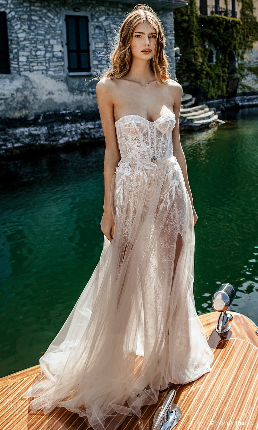 muse by berta spring 2022 bridal strapless sweetheart neckline fully embellished a line ball gown wedding dress chapel train (4) fv