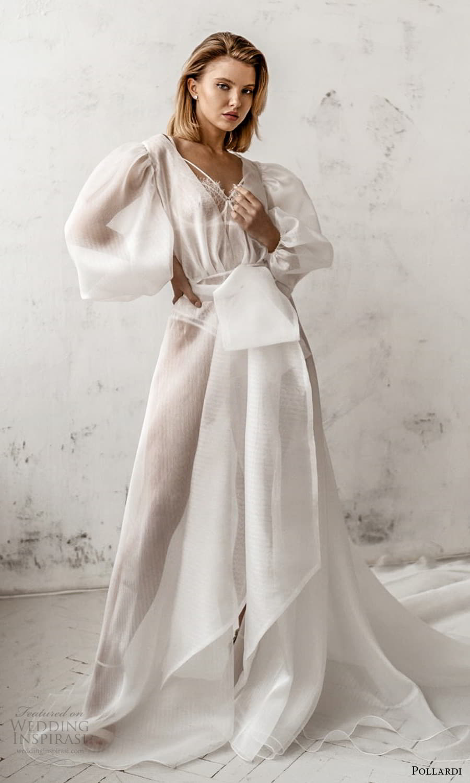pollardi 2021 boudoir bridal 3 quarter puff sleeves bridal coat (5) mv