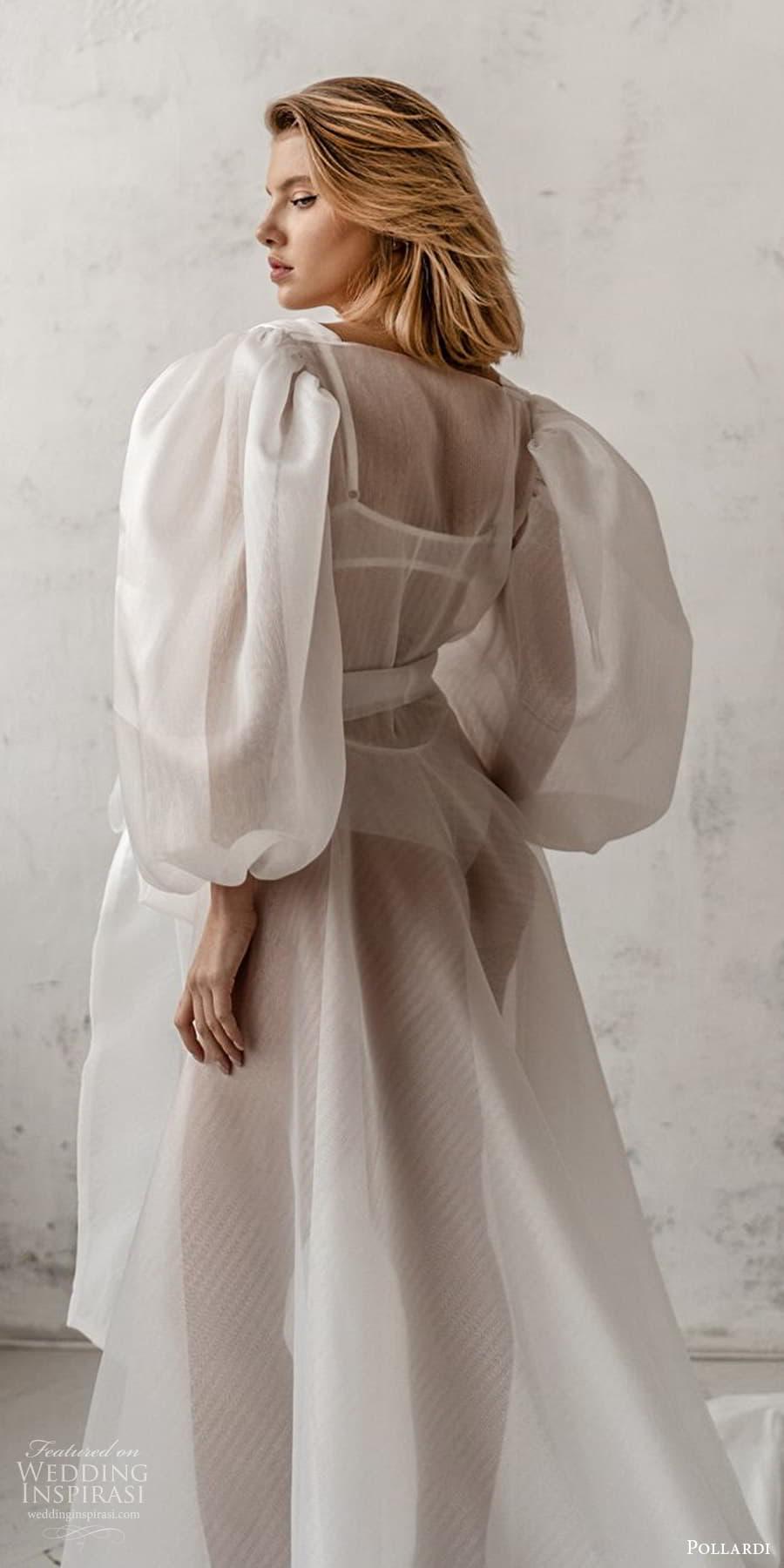 pollardi 2021 boudoir bridal 3 quarter puff sleeves bridal coat (5) zbv