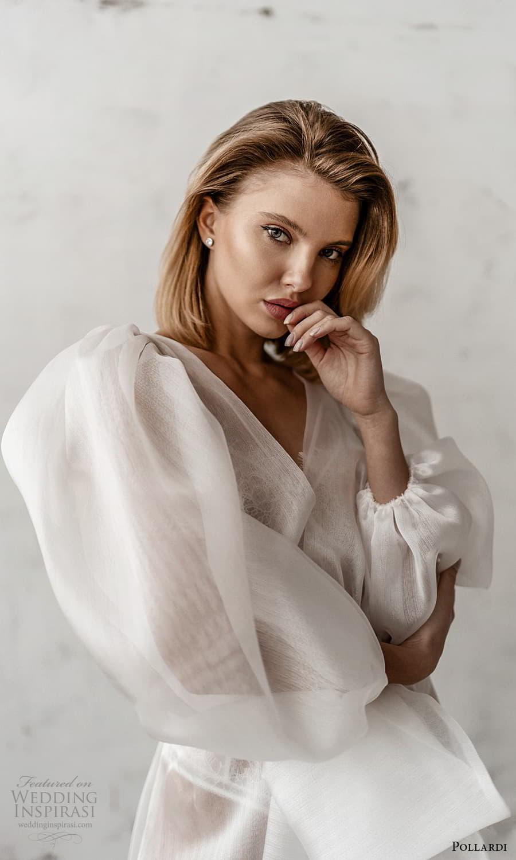 pollardi 2021 boudoir bridal 3 quarter puff sleeves bridal coat (5) zv