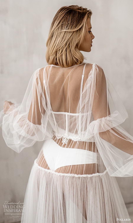pollardi 2021 boudoir bridal sheer bishop sleeves bridal robe dress (3) zbv