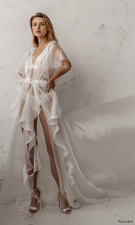 pollardi 2021 boudoir bridal sheer flutter sleeves robe (9) mv