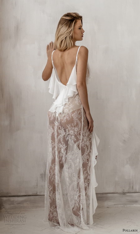 pollardi 2021 boudoir bridal sleeveless straps plunging v neckline sheer over dress (11) bv
