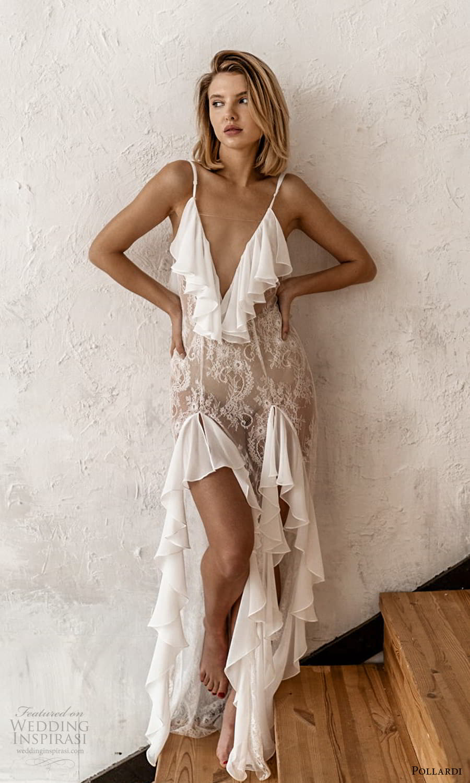 pollardi 2021 boudoir bridal sleeveless straps plunging v neckline sheer over dress (11) mv