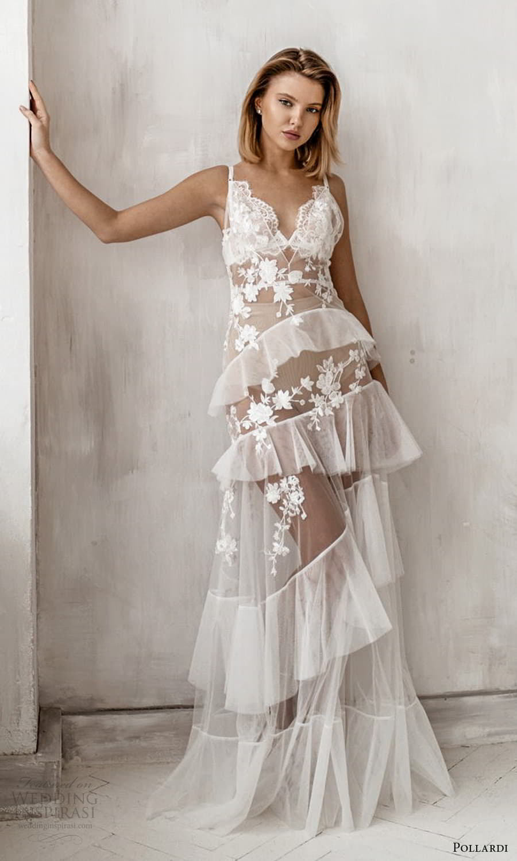 pollardi 2021 boudoir bridal sleeveless straps sweetheart neckline sheer over dress (8) mv