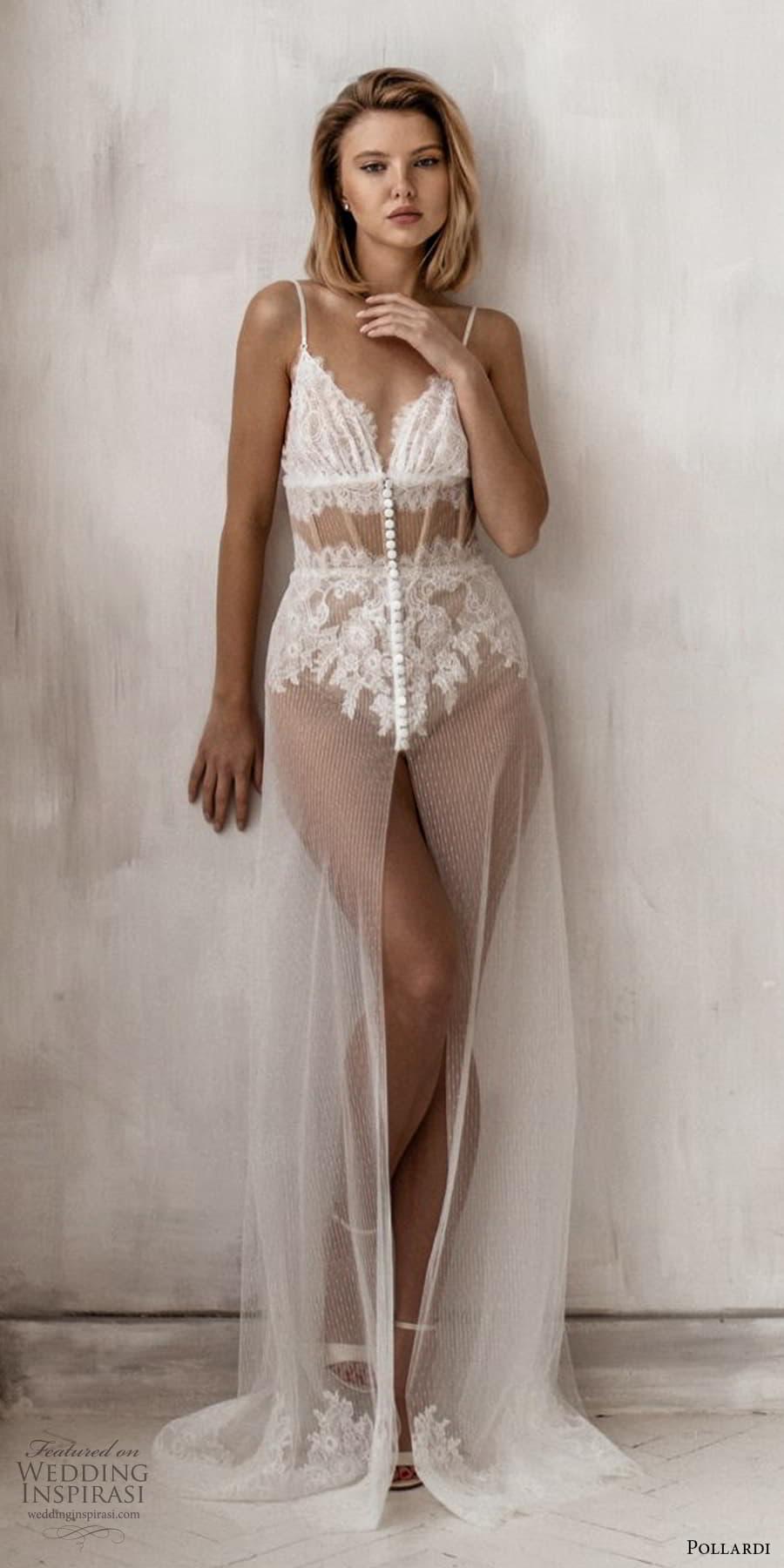 pollardi 2021 boudoir bridal sleeveless straps sweetheart neckline sheer over dress lingeri (12) fv