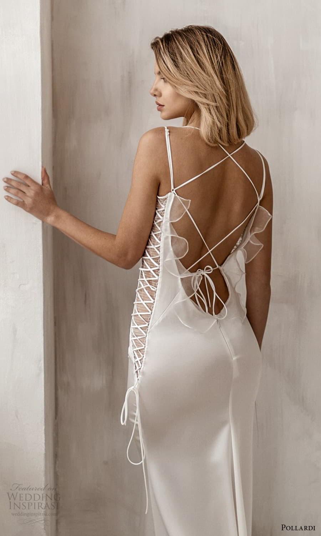 pollardi 2021 boudoir bridal sleeveless straps v neckline sheath lingerie dress (14) bv