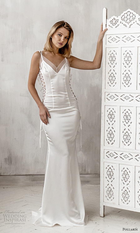 pollardi 2021 boudoir bridal sleeveless straps v neckline sheath lingerie dress (14) mv