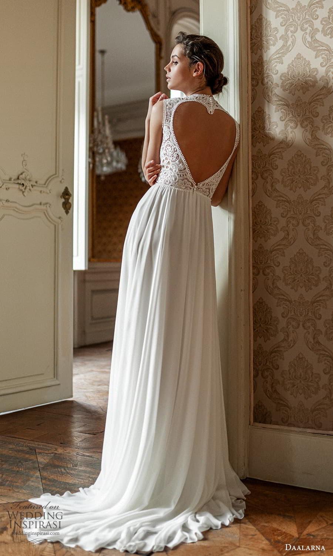 daalarna spring 2022 bridal sleeveless thick straps jewel neckline embellished bodice a line wedding dress cutout back (25) bv